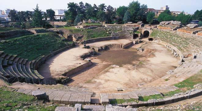Anfiteatro romano de m rida teatro en m rida badajoz en for Oficina de turismo de merida