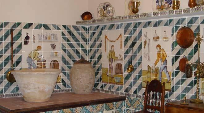 Cocina valenciana museo nacional de cer mica y artes for Casa de azulejos en valencia