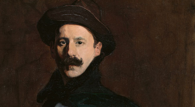 Ignacio Zuloaga, «Autorretrato», 1908. Óleo sobre lienzo. 112 x 71 cm. On loan from The Hispanic Society of America, Nueva York